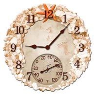 "Springfield 92622 14"" Resin Clock-Seashells"