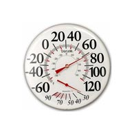 "Taylor 497 12"" Outdoor Thermometer Temperature/Humidity Gauge"
